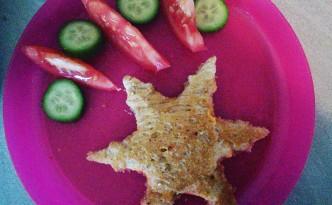 Le sandwich en forme d'étoile